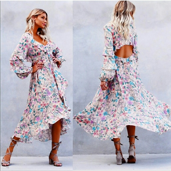 Spell & The Gypsy Collective Dresses | New Spell Sayulita Frill Gown ...
